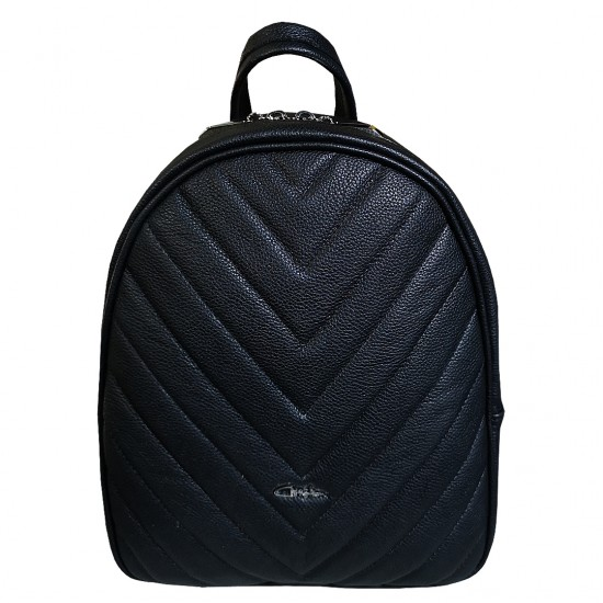Andra  W BackPack Black Soft Leather