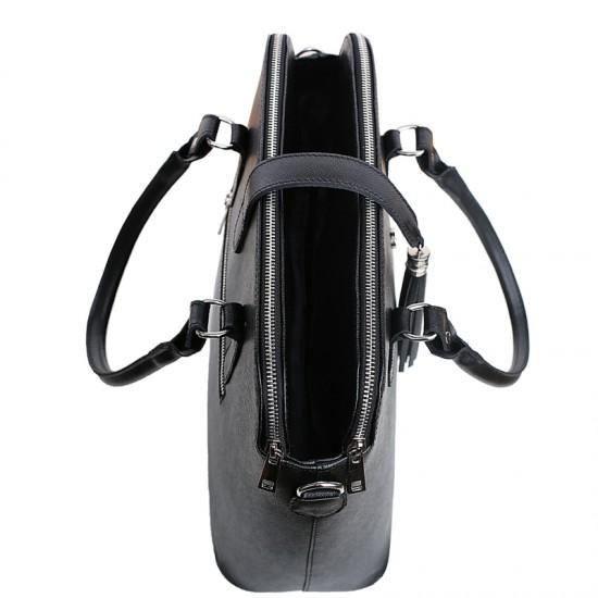 Geanta dama piele naturala - MC 29 - Premium Black Shoulder Bag