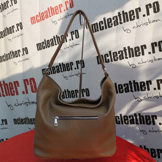 "Florina Taupe ""Elephant"" Leather"