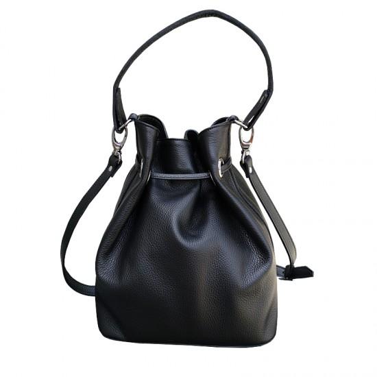 Geanta dama piele naturala - MC 27 - Bucket Bag Leather Black
