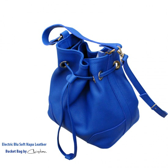 Geanta dama piele naturala - MC 27 - Electric Blue Soft Leather