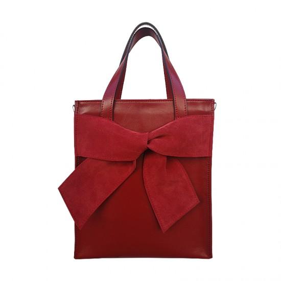 Geanta dama piele naturala Premium - Alexia Magic Bow