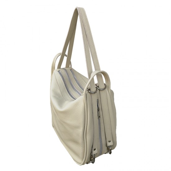 Geanta dama din piele naturala - Big  Bag Soft Leather Cream