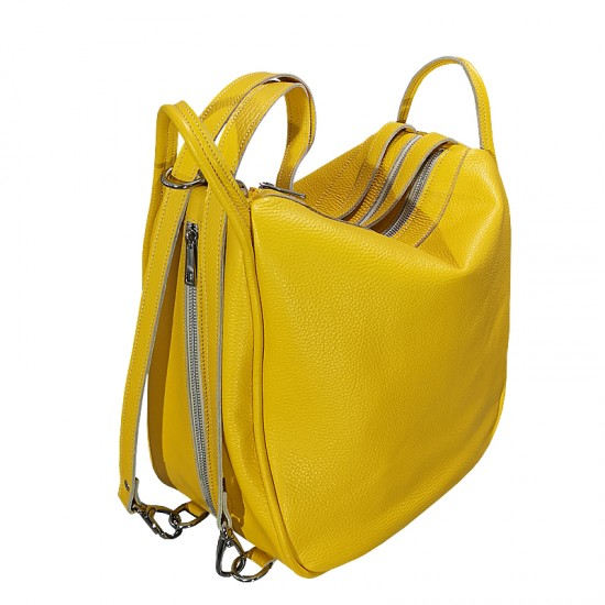 Geanta dama din piele naturala - Big  Bag Yellow Fresh