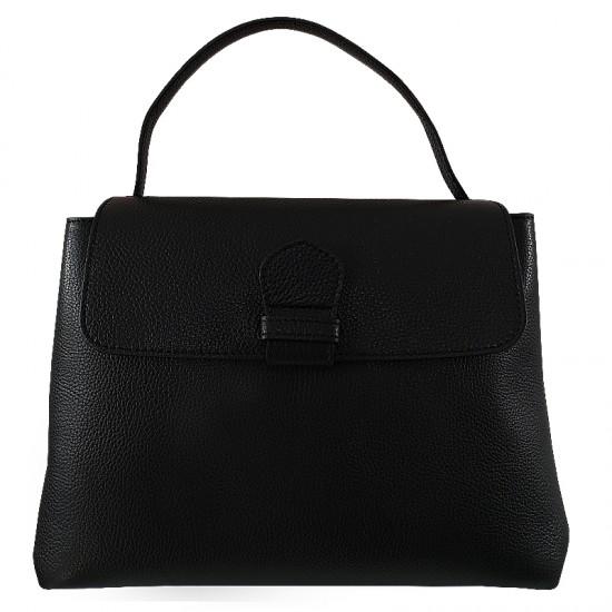 Geanta dama din piele naturala - DARIA Black Code Leather