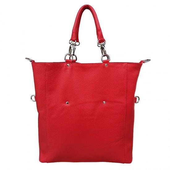 Geanta dama din piele naturala - GRACE Red Soft Leather