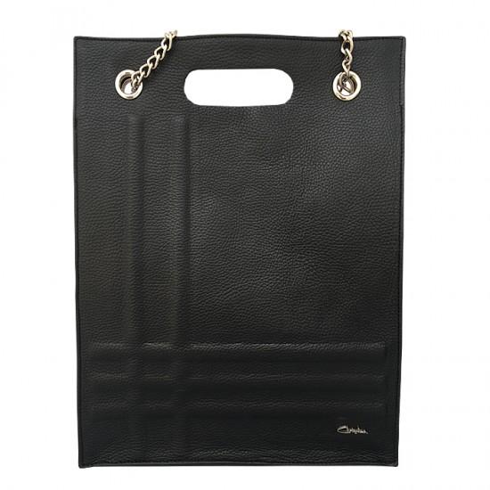 Geanta dama piele naturala Premium - GEORGIA -Black Code Leather