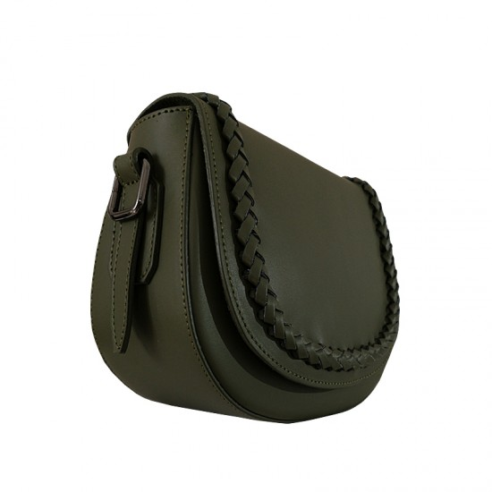 Geanta / Borseta dama din piele naturala - JOY Green leather