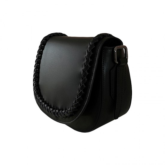 Geanta / Borseta dama din piele naturala - JOY Black leather