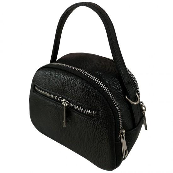 Geanta dama din piele naturala - JUKE Black Code Leather