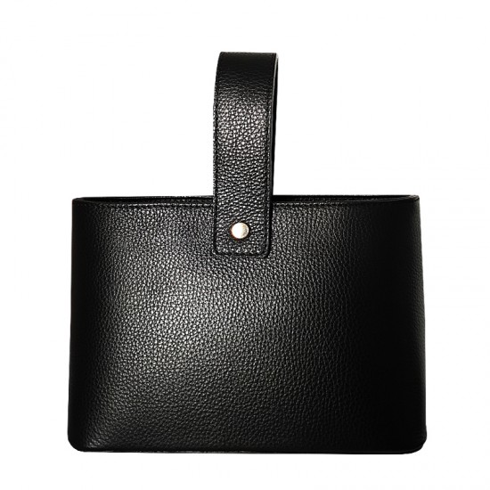 Geanta dama din piele naturala - Paris Black Code Leather
