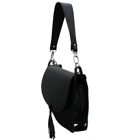 Tolba dama din piele naturala - Sidney Black Code Leather
