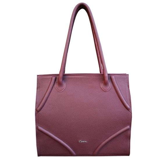 Tania Burgundy Soft Leather