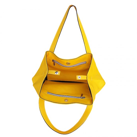 Geanta dama piele naturala - Andreea - Yellow Fresh Leather