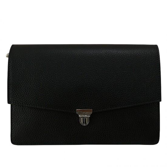 Geanta dama din piele naturala - CHELSEA Black Code Leather