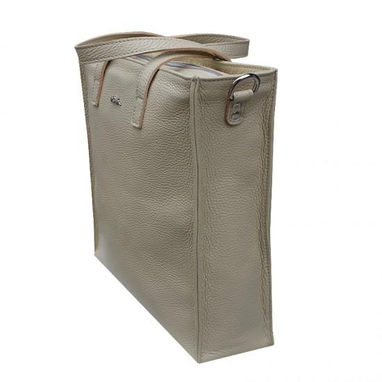 Geanta dama piele naturala Premium - EMILY - Cream Soft Leather