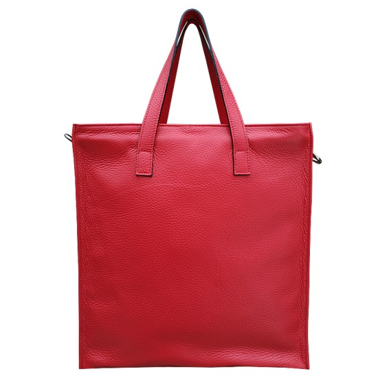 Geanta dama piele naturala Premium - EMILY - Red Soft Leather