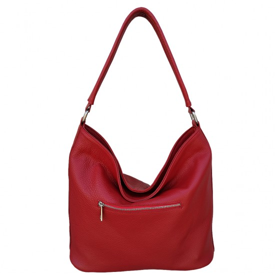 Florina Red Marsala Soft Leather