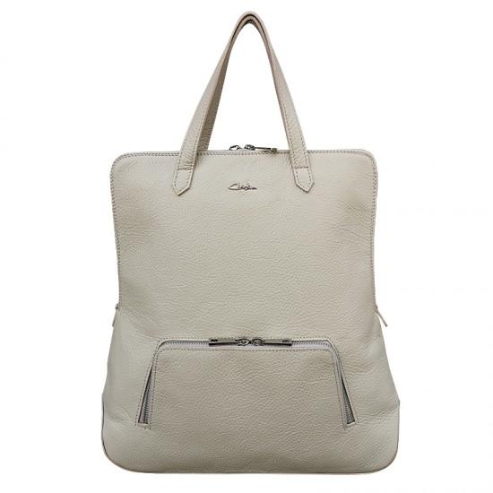 Geanta dama piele naturala Premium - Josephine Cream Soft Leather