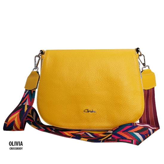 Geanta dama piele naturala - OLIVIA- Fresh Yellow Leather