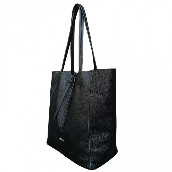 Basic Bag Black Code Leather
