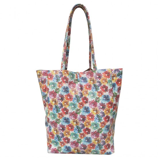 Basic Bag Flower Color Soft Leather