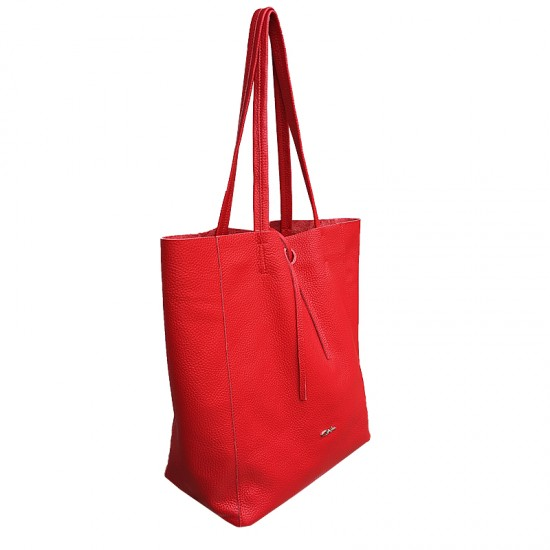 Basic Bag Red Soft Leather