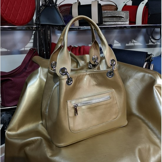 Nadine Gold premium Leather