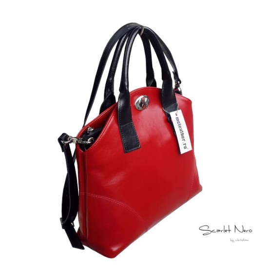 Geanta dama piele naturala - F 36 Scarlet Nero