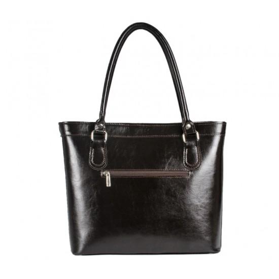 Geanta dama piele naturala - MC 18 - Dark Brown Leather