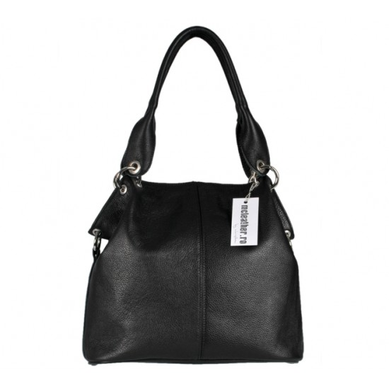 Geanta dama din piele naturala - MC 6 Black Code Soft Leather