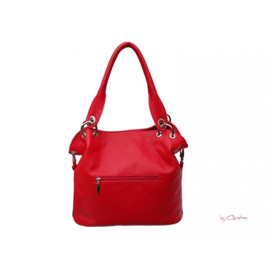 Geanta dama piele naturala - MC 6 Casual Handbag Red