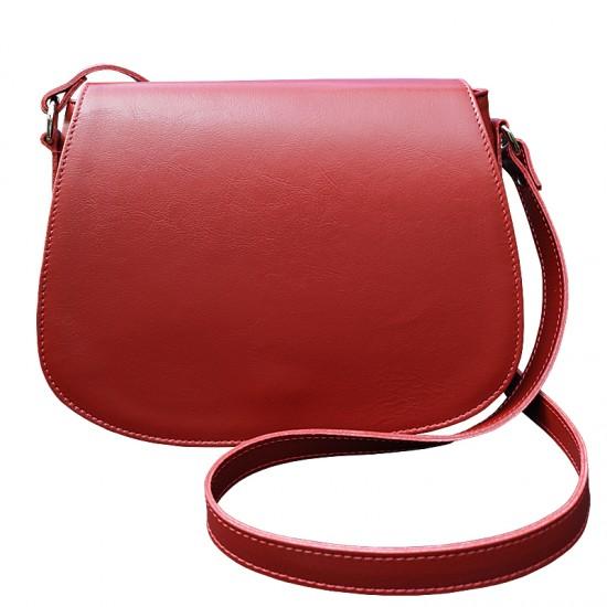 Geanta dama din piele naturala - Postas Crossbody scarlet leather