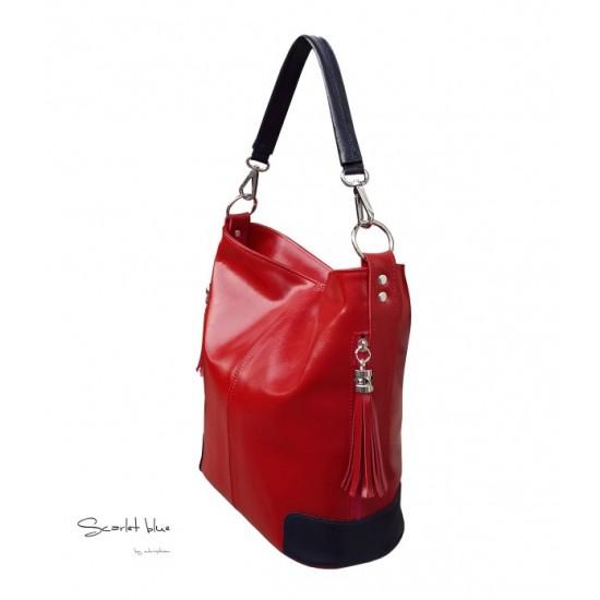 Geanta dama piele naturala - MC 11 Scarlet Blue Premium Leather