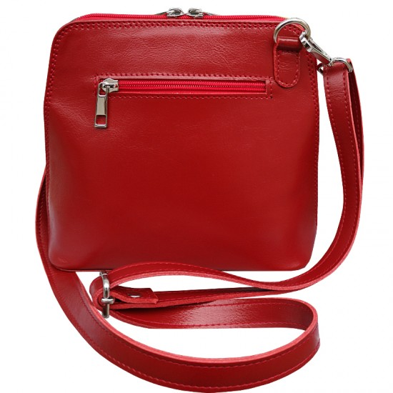 Geanta dama din piele naturala - MC 14 Multicolor Red Premium Leather