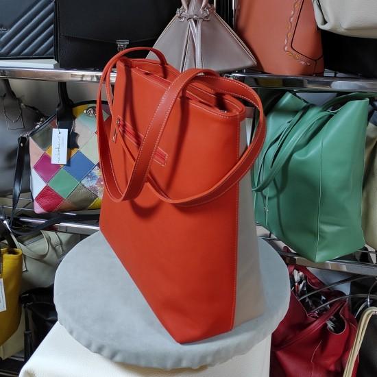 Geanta dama piele naturala - MC 20 Vertical Color Leather