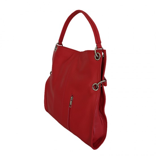 Geanta piele naturala - MC 22 Soft Leather Red