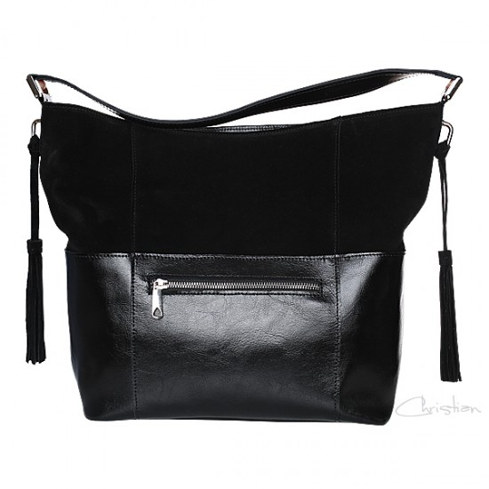 Geanta dama piele naturala - MC 41 Super Bag  Soft Velur