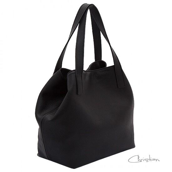 Geanta dama piele naturala - Andreea Black Code Leather