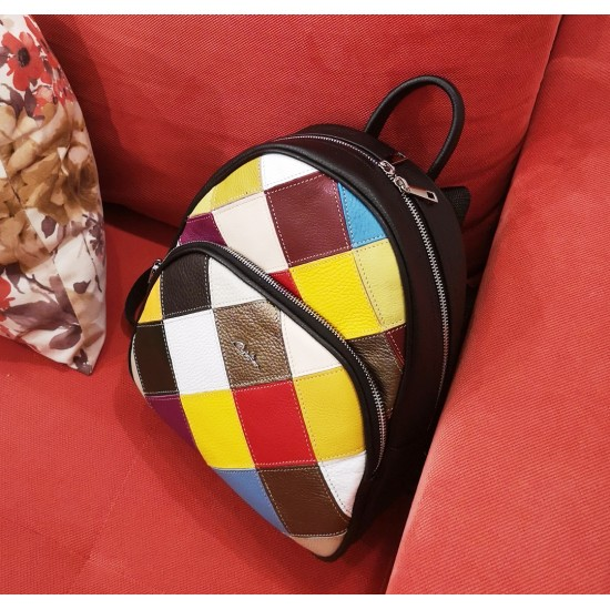 Andra Backpack Vintage Karo Multicolor Leather
