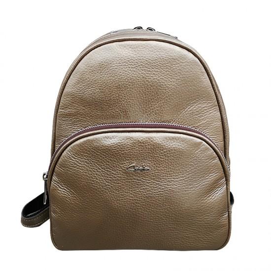 Rucsac dama piele naturala MC 32- ANDRA Gold Brown Premium Color
